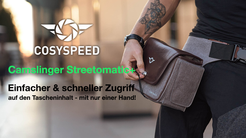 Cosyspeed Kameratasche mit H�ftg�rtel Camslinger Streetomatic