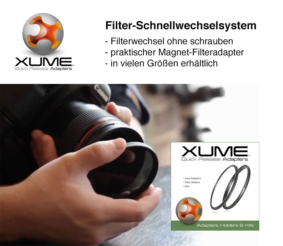 Xume Adpters Filter Schnellwechselsystem