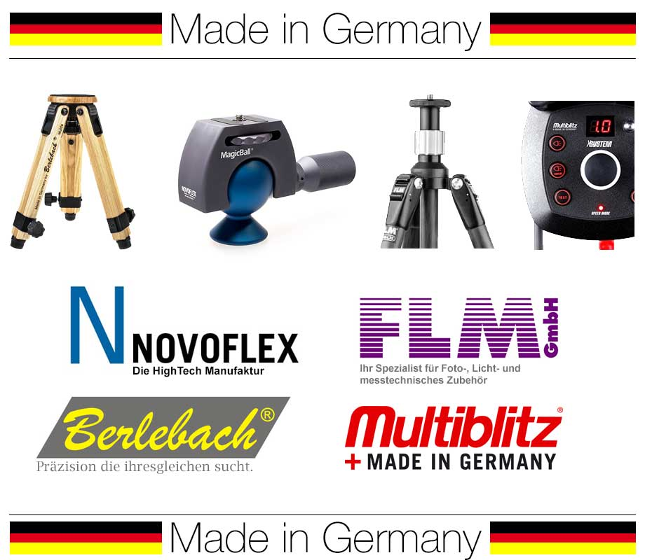 Made in Germany: Novoflex, Berlebach, FLM