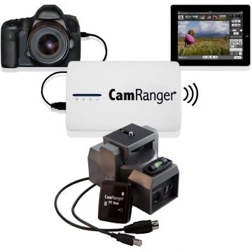 CamRanger Komplettset: Wi-Fi Dongle + Adapter PT Hub + motorisierter Stativkopf MP-360