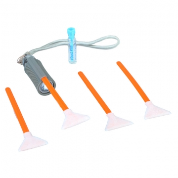 VisibleDust EZ  SwabLight MiniKit 10  1ml VDust Plus  4x VSwab Sensor Cleaning Swab orange  1x AufsteckLED