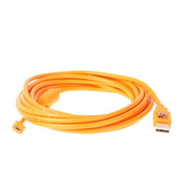 Tether Tools TetherPro USBDatenkabel für USB 20 Typ A an USB 20 MicroB 5Pin  46 Meter Länge orange