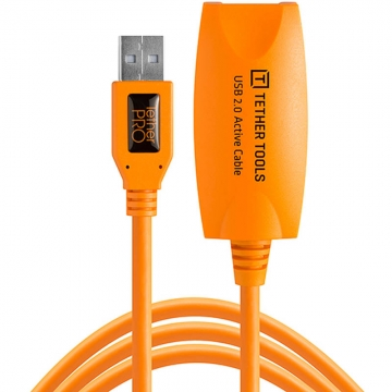 Tether Tools TetherPro USB 20 Active Extension Cable Aktives USB Verlängerungskabel  49 Meter orange