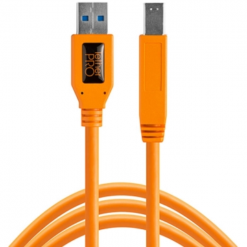 Tether Tools TetherPro SuperSpeed USBDatenkabel für USB 30 Typ A an USB 30 Typ B  46 Meter Länge orange