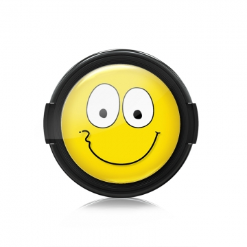 Paintcaps MotivObjektivdeckel Happy Smile 46 mm  mit Rastmechanik