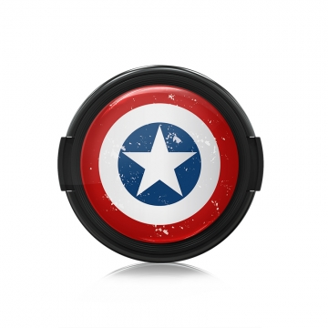 Paintcaps MotivObjektivdeckel Captain Star 43 mm  mit Rastmechanik