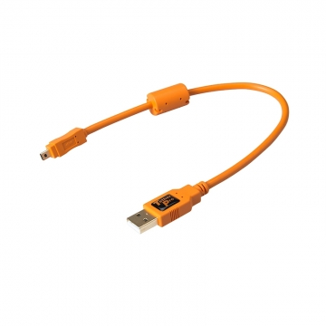 Tether Tools TetherPro USBDatenkabel für USB 20 an USB 20 MiniB 8Pin  30 cm Länge orange
