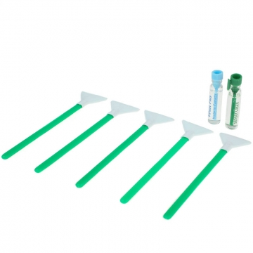 VisibleDust Dual Power Regular Strength 1.0x 24 mm - 5x Sensorreinigungs-Swabs (Green Series) und 2x 1,15 ml Flüssigkeit