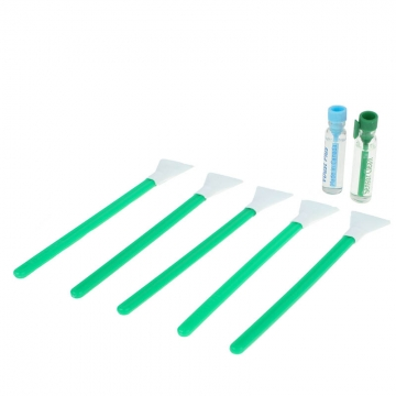 VisibleDust Dual Power Regular Strength 1.6x 16mm - 5x Sensorreinigungs-Swabs (Green Series) und 2x 1,15 ml Flüssigkeit