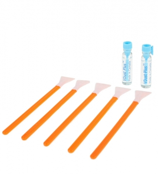 VisibleDust Thinlite-X Light Cleaning 1.6x 16mm - 5x Sensorreinigungs-Swabs (Orange Series) und 2x 1,15 ml Flüssigkeit