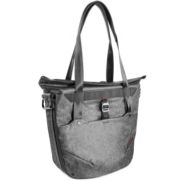 Peak Design Everyday Tote Bag 20L Charcoal Damen-Fototasche für DSLR- und DSLM-Kameras  - funktioniert als Handtasche, Schultertasche, Umhängetasche oder Rucksack (dunkelgrau)