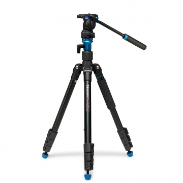 Benro Aero 2 Travel Angel Video Tripod Kit  ReiseVideostativ mit FluideffektVideoneiger S2C