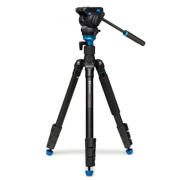 Benro Aero 4 Travel Angel Video Tripod Kit  Videostativ mit FluidVideoneiger S4