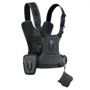 Cotton Carrier Camera Harness-2 G3 Charcoal - Brustgeschirr als Tragesystem für 2 Kameras