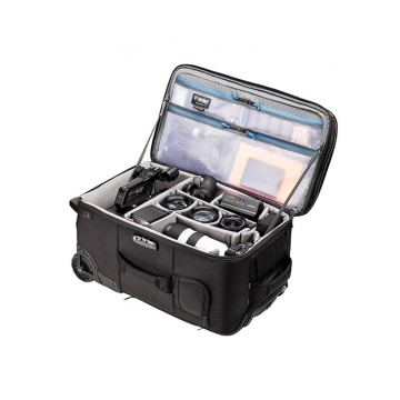 Tenba Roadie Roller 24 Black Fototrolley für 2 DSLRs 10 Objektive 1 Laptop 1 Stativ