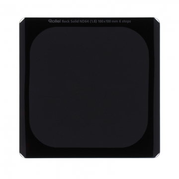 Rollei Rock Solid Rechteckfilter 100mm ND64 +6 Blenden - ND-Filter aus Gorilla®-Glas mit Unbreakle Coating