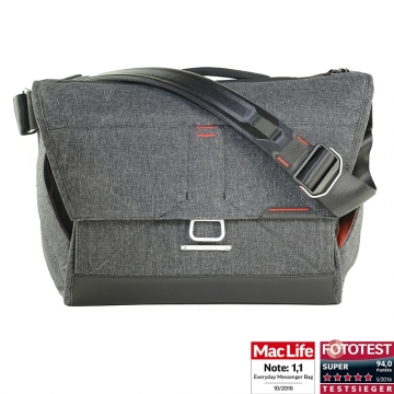 Peak Design Everyday Messenger Bag 15 V2 Charcoal - Fototasche für 1 DSLR-Kamera, 2-3 Objektive, 1 15