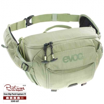 Evoc Hip Pack Capture 7 L Heather Light Olive Hüfttasche für 1 DSLM 1 Blitz und 1 Stativ