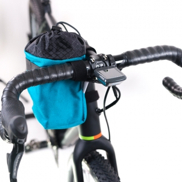 Fahrrad-Fototasche Road Runner Bags Large Point N Shooter türkis Lenkertasche