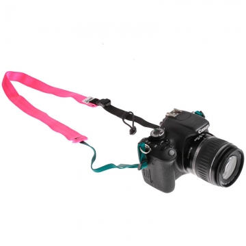 Road Runner Bags Camera Strap pink - Kameragurt Hand Made in USA
