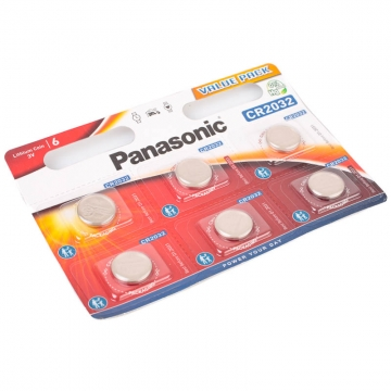 Panasonic CR2032EL Lithium Knopfzelle 3V 6erBlister