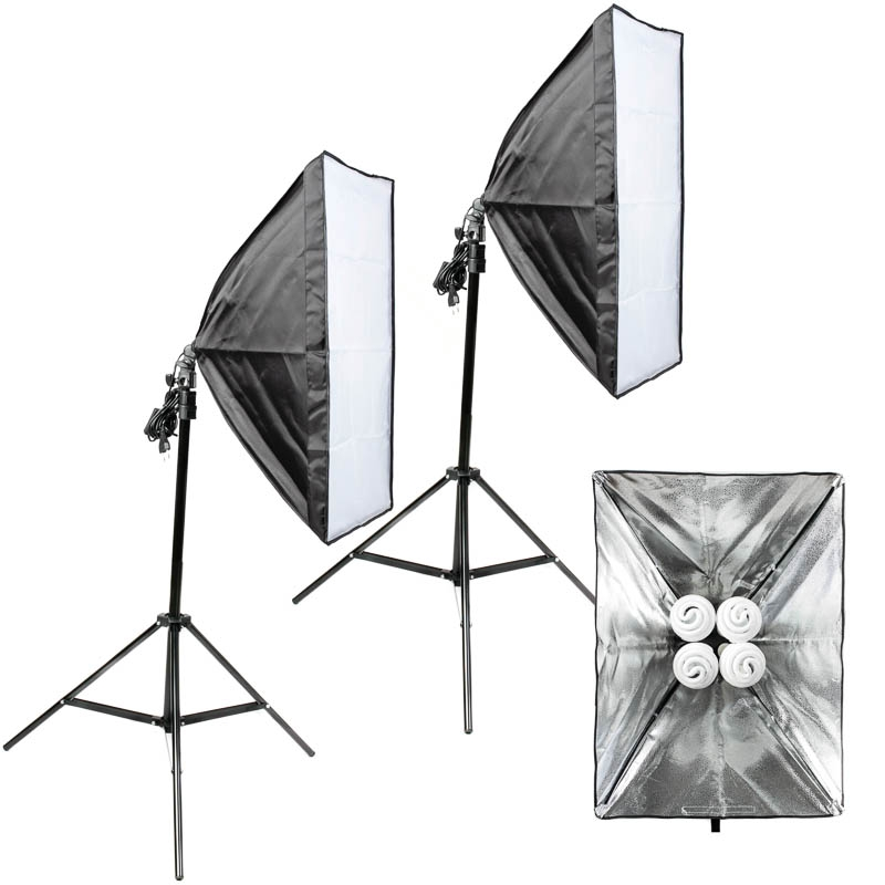 quenox 2 tageslicht boden fotolampen 120w 1040w 15200 lumen 85 ra softbox. Black Bedroom Furniture Sets. Home Design Ideas