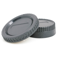JJC Lens Rear Cap & Body Cap Set for Nikon F