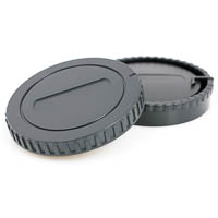 JJC Lens Rear Cap & Body Cap Set for Sony Alpha A
