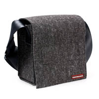 Camera Bag for DSLRs - made from wool felt anthracite