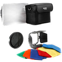 Three-piece light-shapers set Quenox for Speedlights