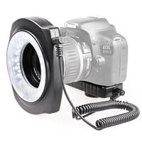 JJC LED Macro Ring Light for DSLRs - inside/outside