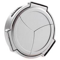 JJC Auto Lens Cap for Fujifilm Finepix X100 silvercoloured