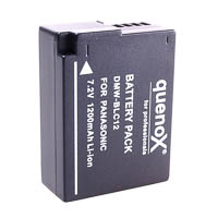 Quenox Battery Pack for Panasonic Lumix GH2 DMWBLC12