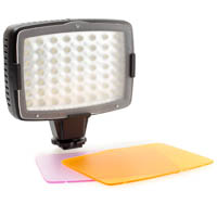 Quenox video LED with two filters for color temperature
