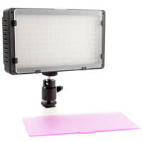 Dimmable bicolor LED-Video Light Quenox for Video-DSLRs 1350 Lux
