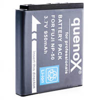 Quenox Battery Pack for Fujifilm Finepix XF1 X20 X10 NP50