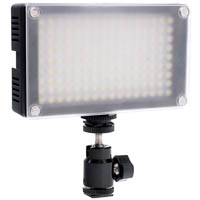 Dimmable LED video light with a ball head, battery and charger