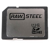 Hoodman RAW STEEL SDHC UHS-1 Memory Card 45MB/s 8GB