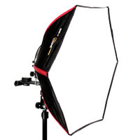 Hexagonal mobile softbox Diffuser-40 for flashgun
