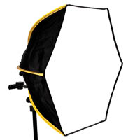 Hexagonal mobile softbox Diffuser-60 for flashgun