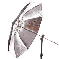 Quenox Collapsible Studio Umbrella 100cm silver/black - Studio Flash & Flashgun