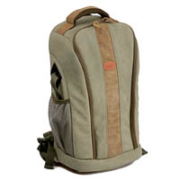 Kalahari Camera Backpack Kapako K70 Canvas Khaki with Bean Bag