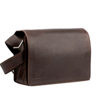 Kalahari Camera Bag Kaama L21 of Buffalo Leather Dark Brown