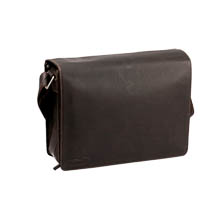 Kalahari Camera Bag Kaama L-25 of Buffalo Leather Dark Brown