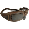 Kalahari Camera Belt Bag Kaama L-8 of Buffalo Leather Dark Brown