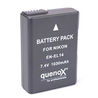 Quenox Storage Battery Pack for Nikon D5200 D3200 ENEL14