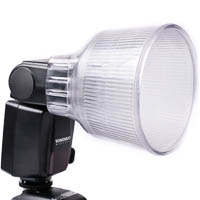 Quenox Round Diffuser for On-Camera Flash 6,8 x 4,8cm