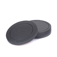 JJC Rear Lens Cap and Body Cap Set for Canon EFM EOSM