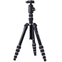 BILORA TravelLux Aluminium Travel Tripod Black with Ball Head