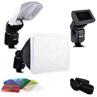 Quenox Light Modifier Set incl. Softbox Honeycomb and Bounce-Reflector